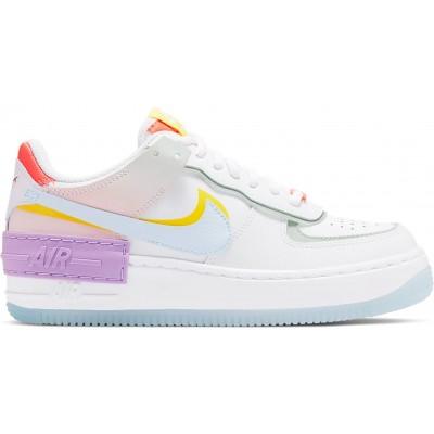 Заказать женские кроссовки Nike Air Force 1 Shadow White Hydrogen Blue Purple сейчас!