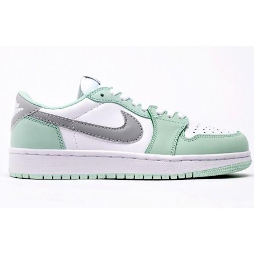 Женские кроссовки Nike Air Jordan 1 Low White / Mint / Grey