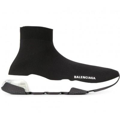 Купить Женские кроссовки Balensiaga SPEED CLEAR SOLE SNEAKER IN BLACK/WHITE