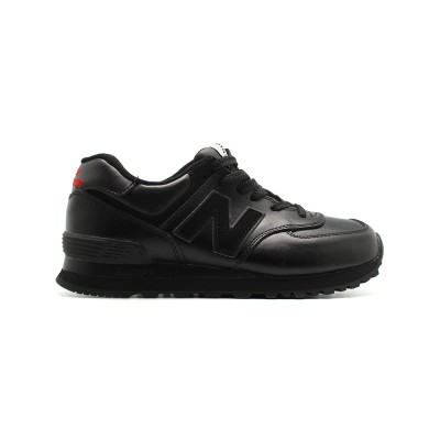 New Balance Мужские 574 Total Black Leather