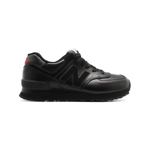 New Balance Мужские 574 Total Black Leather