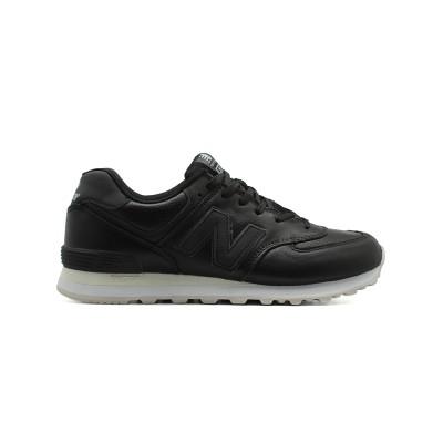 Закажите New Balance Мужские 574 Premium Black Leatherсейчас!