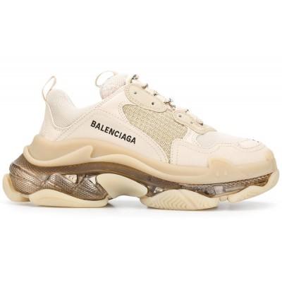 Купить Женские кроссовки Balensiaga Triple S CLEAR SOLE IN WHITE