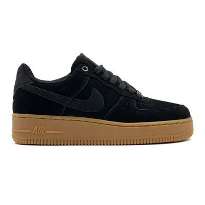 Заказать женские кроссовки Nike Air Force 1 Suede - Black сейчас!