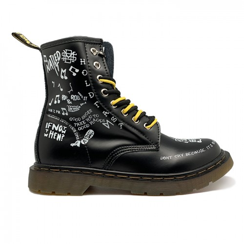 Женские ботинки Dr. Martens 1460 Scribble Black/White
