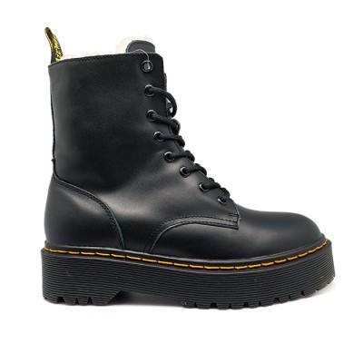 Женские ботинки с мехом Dr. Martens Black Jadon  - BeInKeds.ru