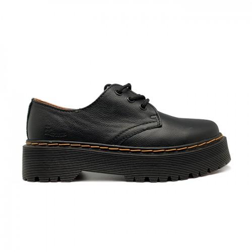 Женские ботинки Dr. Martens 1461 Quad Platform Oxford Black