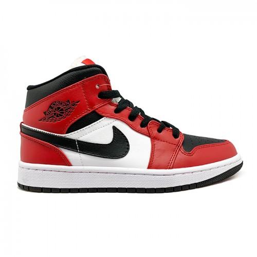 Женские кроссовки Nike Air Jordan 1 Mid Chicago Black Toe