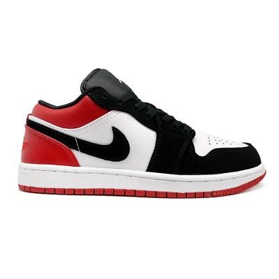 Купить Женские кроссовки Nike Air Jordan 1 Low Black Toe (GS)