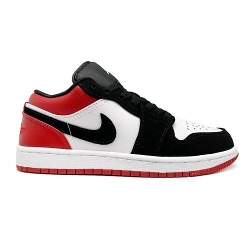 Мужские кроссовки Nike Air Jordan 1 Low Black Toe (GS)