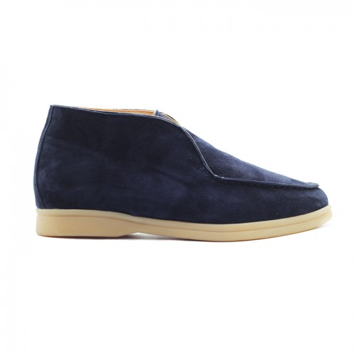 Мужские чукка Loro Piana Open Walk Navy Suede