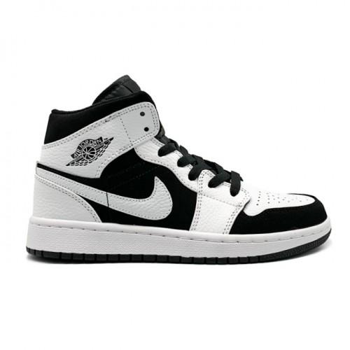 Женские кроссовки Nike Air Jordan 1 Mid Black/White