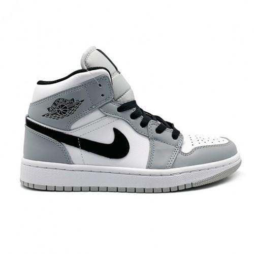 Мужские кроссовки Nike Air Jordan 1 MID LIGHT SMOKE GREY