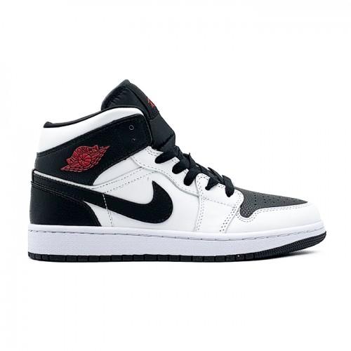 Мужские кроссовки Nike AIR JORDAN 1 MID WMNS REVERSE BLACK TOE