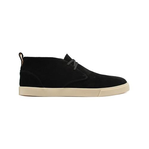 Мужские  высокие кеды Loro Piana Freetime Lace Up Sneakers Black Suede