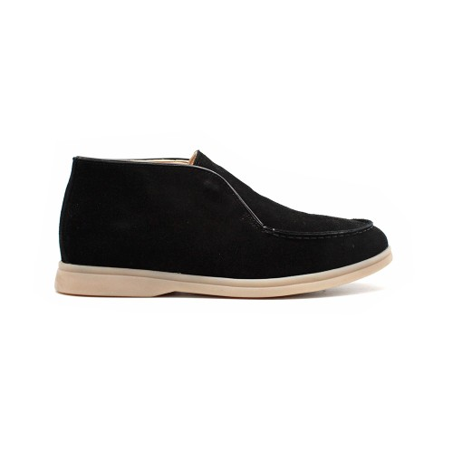 Мужские чукка Loro Piana Open Walk Black Suede