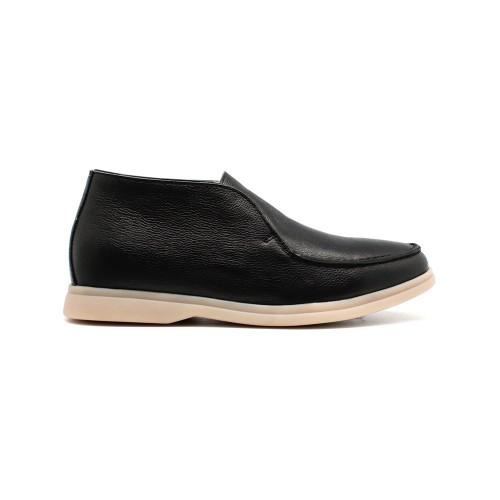 Мужские чукка Loro Piana Open Walk Black Leather