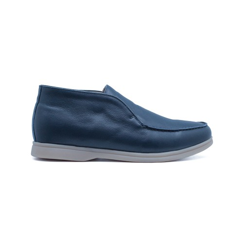 Мужские чукка Loro Piana Open Walk Argo Blue Melange Leather