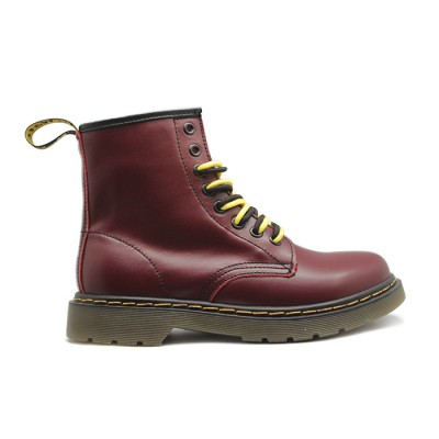 Женские ботинки с мехом Timberland Dr. Martens Cherry Red  - BeInKeds.ru