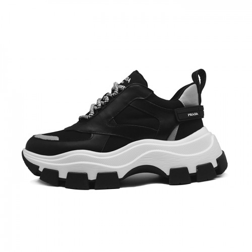 Мужские кроссовки Prada Black and White Chunky Sneakers