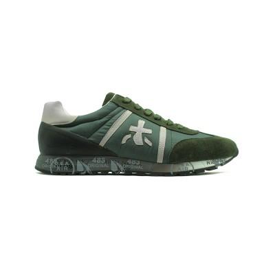 Мужские кроссовки Premiata Lucy Sneakers Army Green из очень нежной замши
