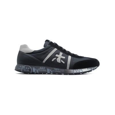 Мужские кроссовки Premiata Lucy Sneakers Black из очень нежной замши