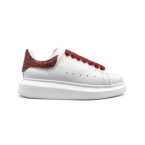 Женские кроссовки Alexander McQueen Luxe Glitter Red