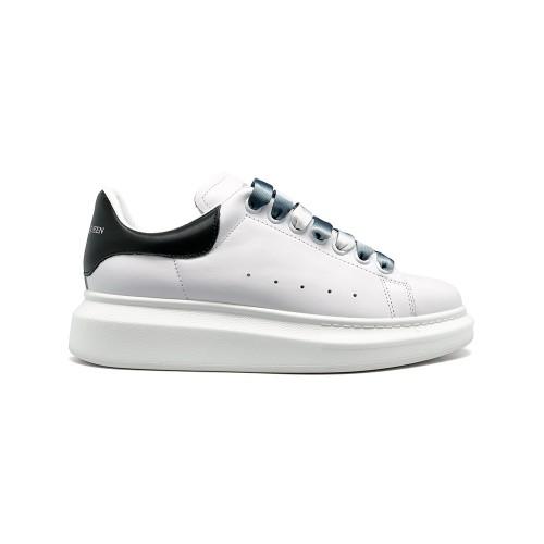 Женские кроссовки Alexander McQueen Luxe Glitter White-Black
