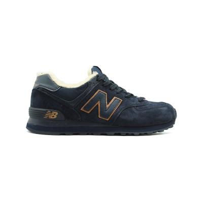 New Balance Мужские 574 Navy-Gold