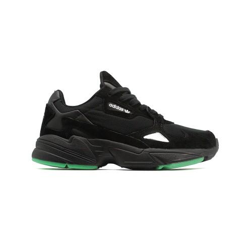 Кроссовки женские Adidas Falcon Black-Green