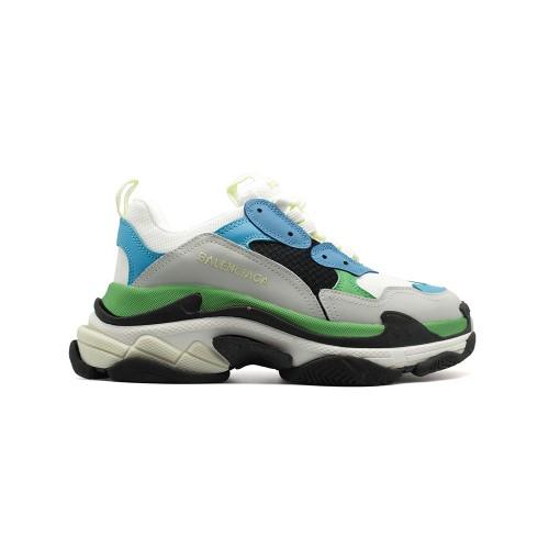 Женские кроссовки Balensiaga Triple S Blue-Grey-Green