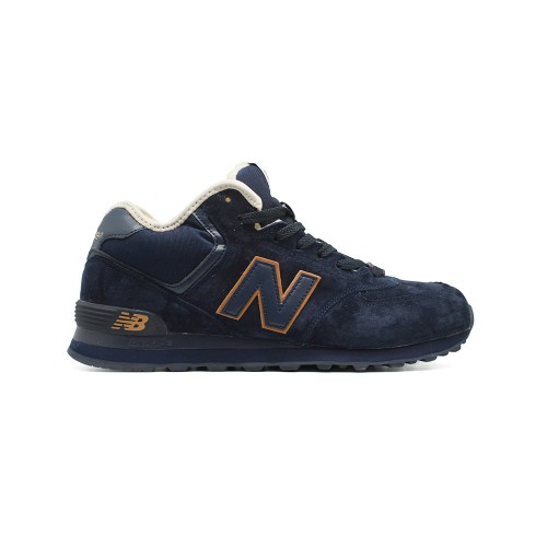 Зимние New Balance Мужские 574 High-top Navy-Gold
