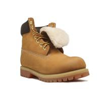 Женские ботинки с мехом Timberland 10061 Rust