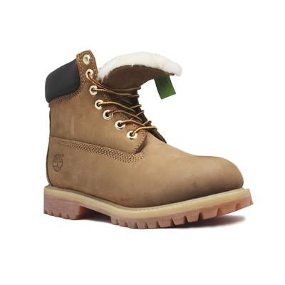Женские ботинки с мехом Timberland 10061 Cacao - BeInKeds.ru