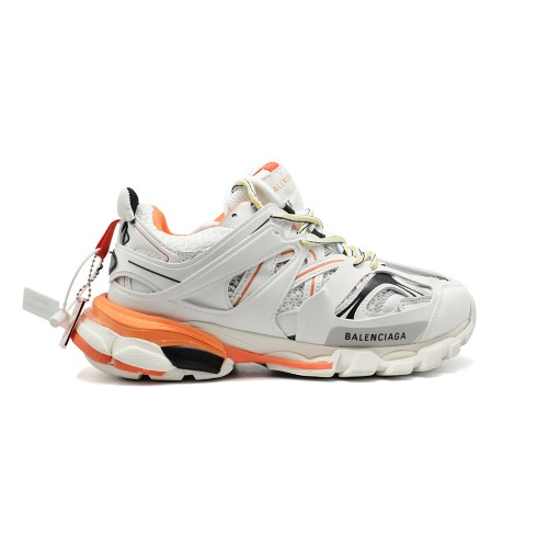 Женские кроссовки Balensiaga Track Trainer White-Orange