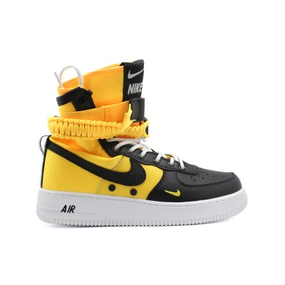 Мужские кроссовки Nike SF AF1 Special Field Air Force 1 Black Yellow