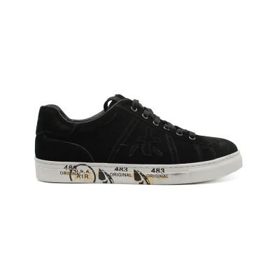 Мужские кроссовки Premiata Andy Sneakers Black из очень нежной замши
