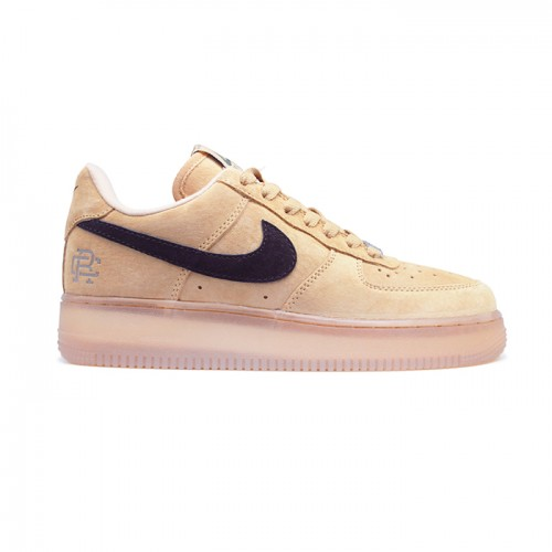 Женские кроссовки Nike Air Force 1 X Reigning Cham Low All-Match Sneakers Tan Beige