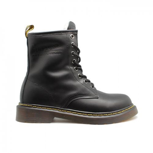 Женские ботинки с мехом Dr. Martens Black 1