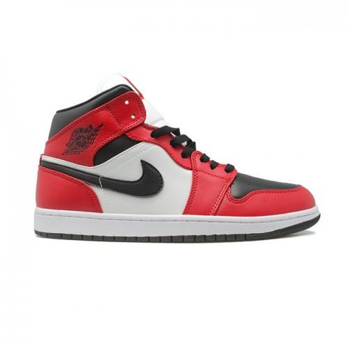 Мужские кроссовки Nike Air Jordan 1 Mid  Chicago Toe