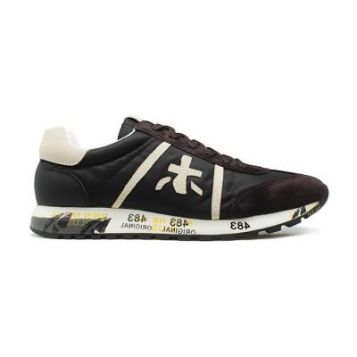 Мужские кроссовки Premiata Lucy Sneakers Brown из очень нежной замши