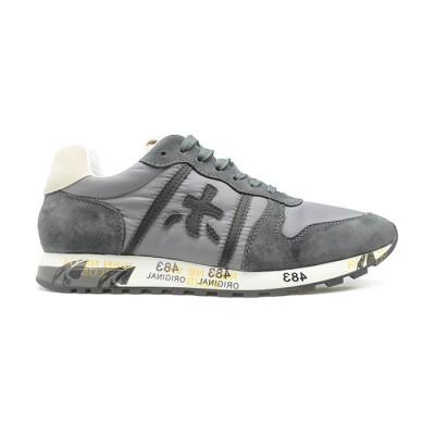 Мужские кроссовки Premiata Lucy Sneakers Grey из очень нежной замши