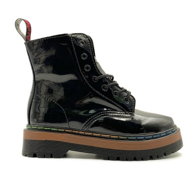 Женские ботинки Dr. Martens Jadon Patent Rainbow Black  - BeInKeds.ru