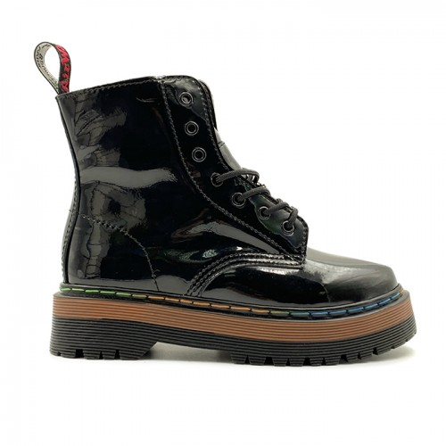 Женские ботинки Dr. Martens Jadon Patent Rainbow Black