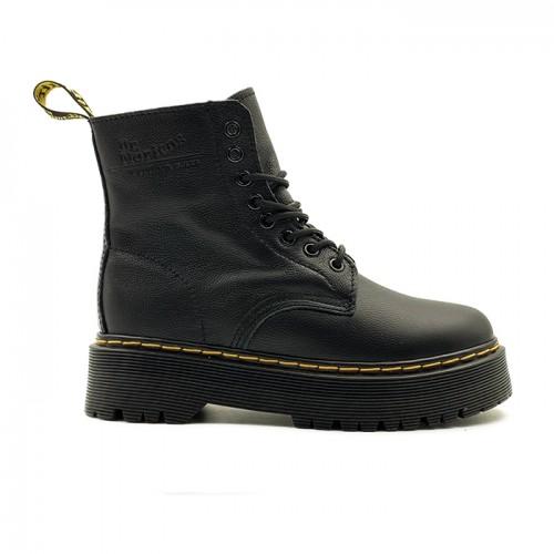 Женские ботинки с мехом Dr. Martens Jadon Black