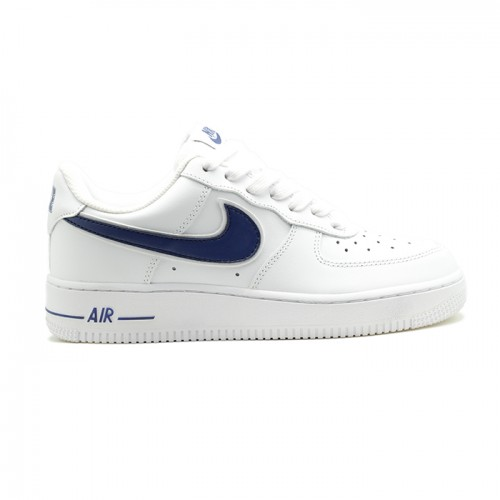 Женские кроссовки Nike Air Force AF-1 Low White-Navy