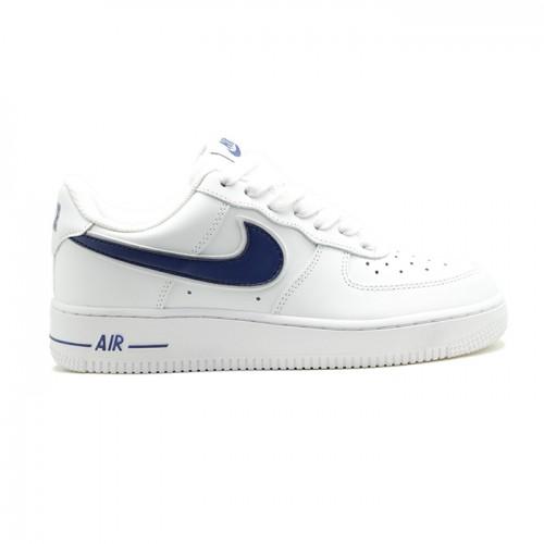 Мужские кроссовки Nike Air Force AF-1 Low White-Navy