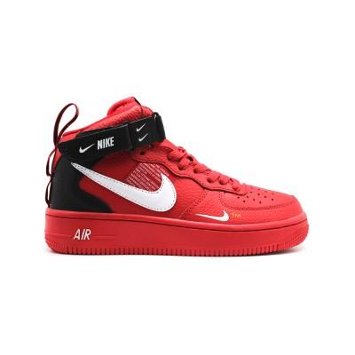 Заказать женские кроссовки Nike Air Force 1 Mid  SE Premium Red сейчас!