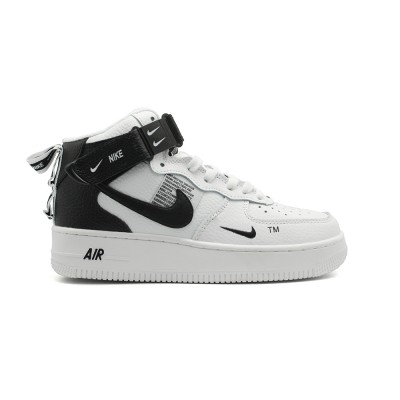 Купить Мужские кроссовки Nike Air Force 1 Mid SE Premium White на beinkeds.ru