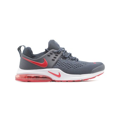Мужские кроссовки Nike Air Presto Woven Grey-Red- BeInKeds.ru